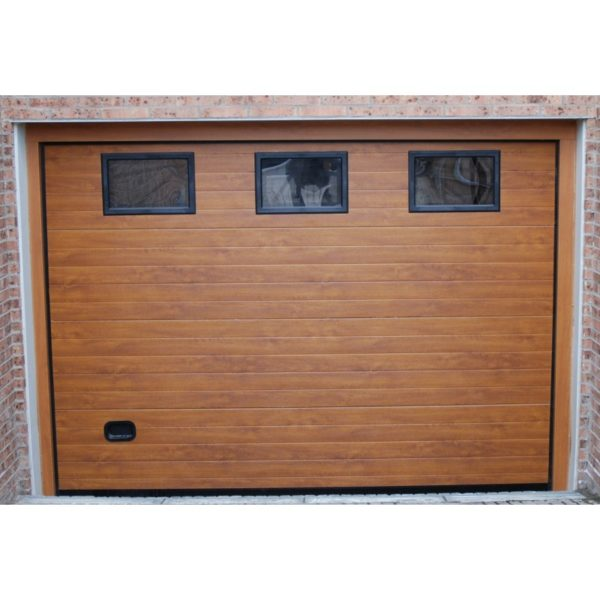 Puerta seccional panel imitacion madera 40 mm